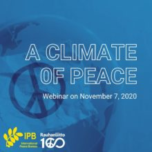 A Climate of Peace. Webinar on November 7, 2020.