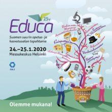 Educa Suomen suurin opetus- ja kasvatusalan tapahtuma 24.-25.1.2020 Messukeskuksessa. Olemme mukana!