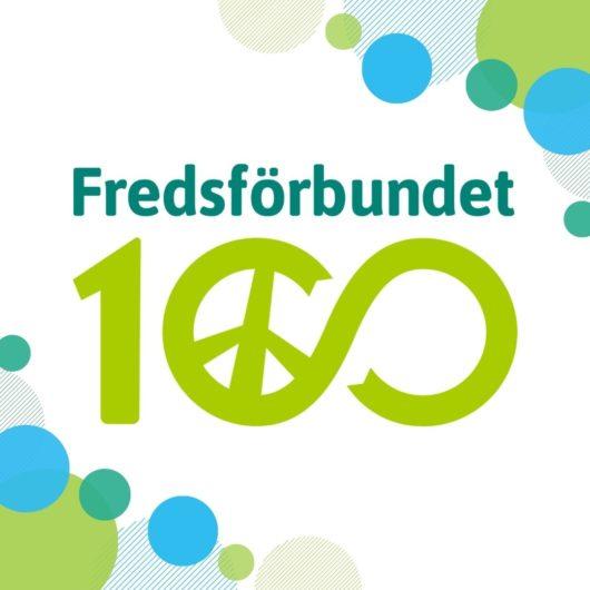 Fredsförbundet 100 års logo.