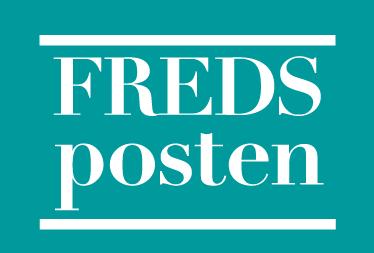 Fredsposten-lehden logo.