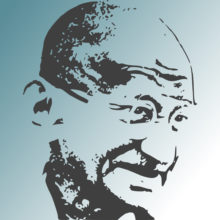 Mohandas Gandhi kasvokuva