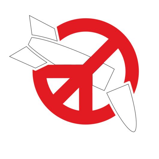 Ydinaseita vastustavan ICAN-verkoston rauhanmerkki-logo