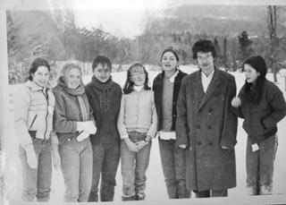 Ryhmäkuva lasten ydinaseiden vastaisen kampanjan perustajista vuonna 1982