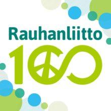 Rauhanliitto 100 vuotta -logo.