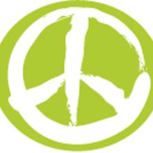 Valkoinen ja vihreä rauhanmerkki