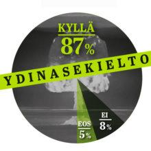 Infograafi: 87 % suomalaisista kannattaa ydinasekieltoa